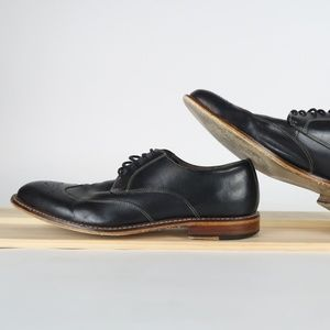 BANANA REPUBLIC Mens Black Leather Wingtip Oxfords